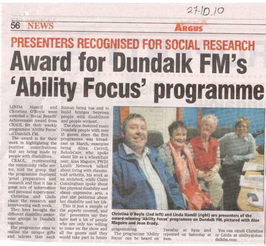 Ability Focus Award Argus
