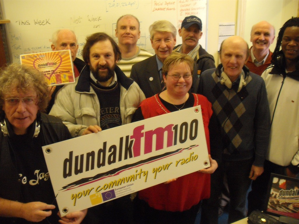 All having a good tome at Dundalk FM studios - Sean Callaghan, Charles Barker, Jim McAteer, Padriag Quigley, Cathal Cassidy, Lousie Dowdall, Paddy McEneaney, Anthony O'Hagan, Hugh McKitterick and Valentino Tendai.