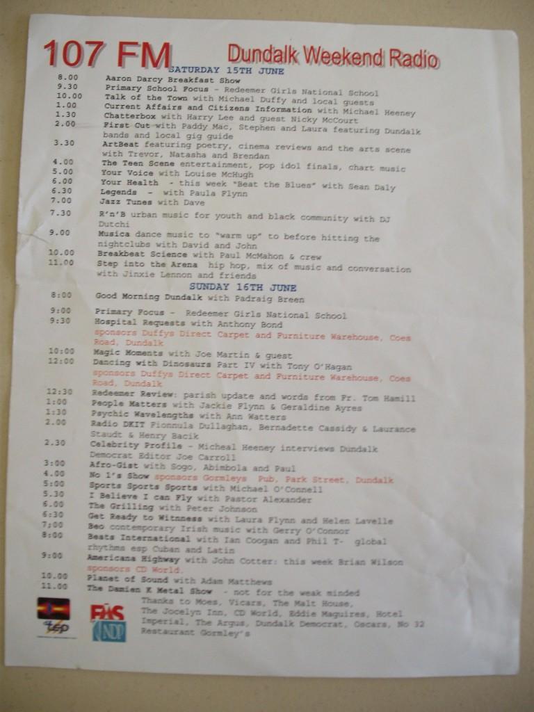 DWR Schedule