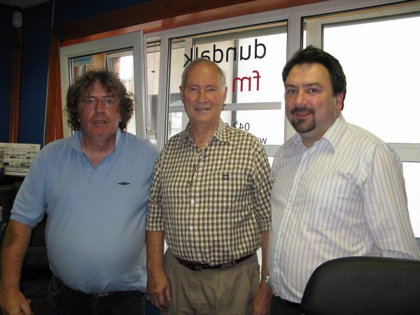 Dundalk FM Sean Callaghan Ronan Soraghan and Alan Byrne June 23 2010