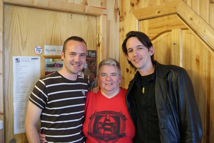 Richie Marr, Bernadine Quinn and John Roddy Dundalk Outcomers.