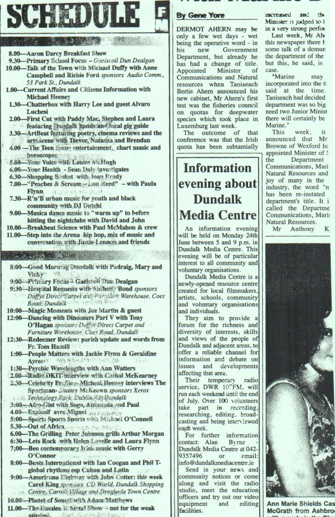 DWR 107FM Schedule